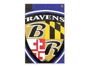Party Animal Baltimore Ravens Bold Logo Banner United States 36 x 24 Lightweight Dye Sublimated Polyester