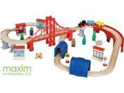 Maxim Wooden Train Set - Thomas and Friends Compatible - 60 Piece
