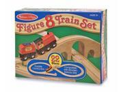 Melissa & Doug Classic Wooden Figure Eight Train Set 9SIA00Y45M9334