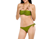 Green Polka Dot Bikini With Bandeau Top Size X-Small 9SIA1NM5HV1349