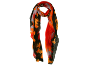Red Black Orange Wild Multicolor Long Scarf Wrap