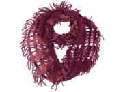 Purple Shredded Wispy Knit Ring Scarf