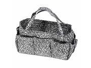 Black White Leopard Print Organizer Travel Bag