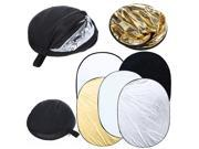 35 x 47 inch 5 in 1 Photography Studio Multi Photo Collapsible Light Reflector Oval 90 x 120cm