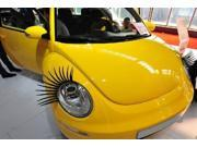 2Pcs Fashion Cool Universal Car Headlight Eyelashes Sticker Decoration Black Features: This item consists of 2pcs car headlight eyelashes sticker, perfect decoration, make your car unique and cool