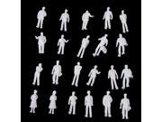 100pcs HO Scale 1:100 White Model People Unpainted Train Figures 9SIA1NV1GV2443