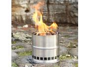 Portable Stainless Steel Lightweight Wood Stove Solidified Alcohol Stove Outdoor Cooking Picnic BBQ Grill Camping