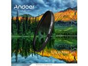 Andoer 72mm Circular Shape Graduated Neutral Density GND8 Graduated Gray Filter for Canon Nikon DSLR Camera