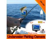 "4.3"" Digital Color LCD Monitor DVR Video 8 LED 800TVL HD Underwater Fishing Camera 15M Cable Fish Finder"