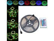 LIXADA LED RGB Strip Light SMD 3528 FlexibleLight IP65 60LEDs/m 5m/lot with 24key RF Remote Controller and 12V 2A Adapter
