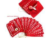5 PCS Red Greeting Card Envelopes Multifunction Envelope for Christmas