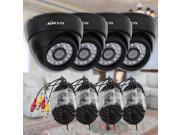 KKmoon® 800TVL Security Kit with 4pcs CCTV Camera 4pcs 60ft Video Cable IR CUT Home Surveillance PAL System