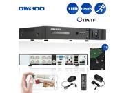OWSOO 8CH Channel Full 1080N 960*1080 AHD DVR HVR NVR H.264 HDMI P2P Cloud Network Onvif Digital Video Recorder 1TB Seagate Hard Drive Email Alarm PTZ for C