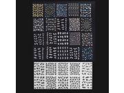 30 Sheet 3D Mix Color Floral Design Nail Art Stickers Decals Manicure Beautiful Fashion Accessories Decoration