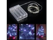 2m 20-LED String Light Lamp Decoration Lighting for Christmas Party Wedding 4.5V White