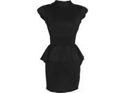 Peplum Cutout Colorblock Dress 9SIA1P00JD1161