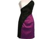 Strapless Color Block Stretch Taffeta Tube Prom Dress