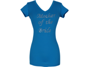 V-neck Tee Cotton T-shirt Top Studded Crystal Mother of the Bride Bridal Shower Gift Junior & Junior Plus Size