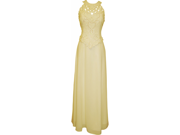 Mother Of The Bride Beaded Cutouts Sleeveless Chiffon Formal Wedding Party Gown MOB Dress