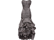 Beaded Embroidered Taffeta Long Gown Prom Holiday Dress