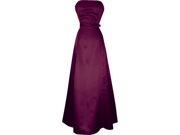 50's Strapless Satin Long Gown Bridesmaid Prom Dress