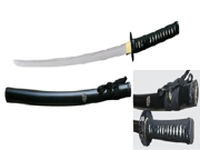 41 inch Musha  Hand Forged Samurai Sword, Kotoku Series, Black