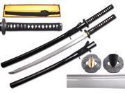 40 1/4 inch Musha  Hand Forged Samurai Sword, Raiden Series, Black