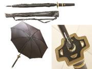 "41"" Danketsu (Unity) Black Samurai Handle Umbrella"
