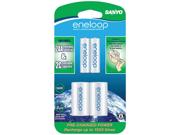 """Eneloop SEC-NCSC2AAN 2-pack 2000mAh AA Ni-MH Batteries with """"C"""" Spacer"""