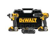 Dewalt Dck280c2 20V Drill/Impact Combo Kt