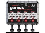 Noco genius g4 battery charger g4 4-bank charger / 4.4 amp by NOCO GENIUS 9SIAFBZ6Z49405