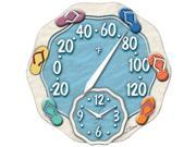 Springfield 91620 12 Sandals Thermometer With Clock