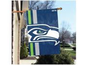 Party Animal Seattle Seahawks Bold Logo Banner United States 36 x 24 Lightweight Dye Sublimated Polyester