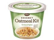 Sugar Foods 40774 N'JOY Orchad Spice Oatmeal - Resealable Lid, Individually Wrapped - Orchad Spice - Cup - 1 Serving Cup - 2.55 oz - 8 / Carton 9SIA1PC5642755