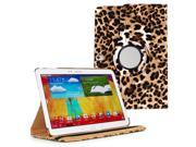KIQ TM Leopard 360 Rotating Leather Case Cover Skin for Samsung Galaxy Note 10.1 2014 P601