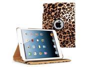 KIQ TM LEOPARD 360 Rotating PU Wake Sleep Leather Case Skin Cover for Apple Ipad Air 2 6 Gen