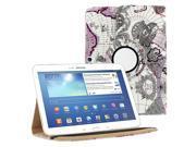 KIQ TM Purple Map 360 Rotating Leather Case Cover Skin for Samsung Galaxy Tab 3 10.1 P5200