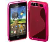 Cimo S-Line Back Flexible TPU Case for Motorola Atrix HD (AT&T) - Pink