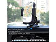 Car Mount, iClever 360 Degree Rotation Universal Phone Holder, Windshield Dashboard iPhone / Samsung Car Cradle for iPhone 6s 6 plus 5s / Galaxy S6 edge note 5 and More Smartphones, Black