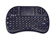 Rii Mini 2.4GHz Wireless Touchpad Keyboard with Mouse for PC, PAD, XBox 360, PS3, Google Android TV Box, HTPC, IPTV (Black)