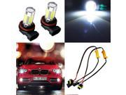 2pcs HID White H11 H8 CREE High Power LED Bulbs Fog Lights   Decoders Error Free Features: Designed for easy DIY installation & direct replacement