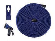 [Improved] Ohuhu® 75 Feet Garden Hose / Expandable Hose, 75 Ft Expandable Garden Hose with Free 8-pattern Spray Nozzle & Hose Holder, Blue