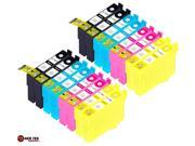 Laser Tek Services® 16 Pack of Epson T126 Replacement Ink Cartridges  (4BK, 4C, 4M, 4Y)