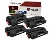 Laser Tek Services ® HP CE505X (05X) 4 Pack High Yield Compatible Replacement Toner Cartridges