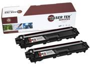 Laser Tek Services® Brother TN221BK / TN225BK Black 2 Pack Compatible Replacement Toner Cartridges