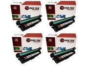 Laser Tek Services® HP 507A 4 Pack (CE400A, CE401A, CE402A, CE403A) High Yield Compatible Replacement Toner Cartridges
