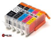 Laser Tek Services® 5 Pack Canon PGI-255XXL and CLI-251XL Compatible Inks. (1BK,1k,1C,1M,1Y)