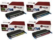 Laser Tek Services® 4 Pack Replacement HP 3800 (501A / 503A) High Yield Toner Cartridges (Q6470A, Q7581A, Q7582A, Q7583A)