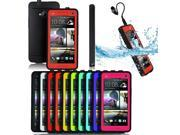 Patazon Ultra-Slim Waterproof/ Shockproof/ Dirtproof/ Snowproof/ Durable Protect Hard Back case Cover For HTC One M7 (Red)