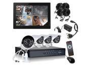 HQ-Cam® 4 Channel H.264 960H DVR 4 x 700TVL Bullet Cameras 1080P HDMI Security System